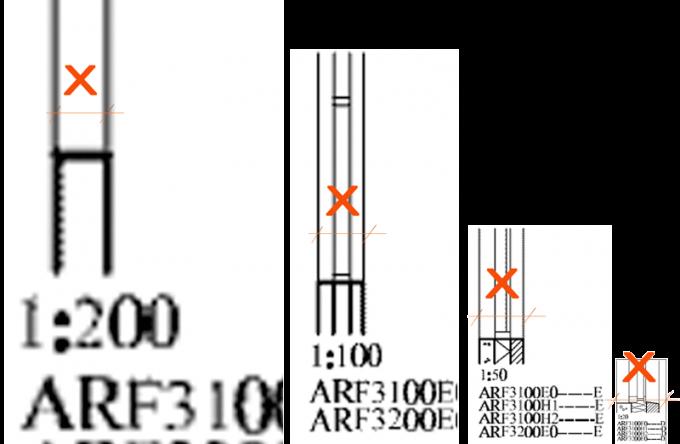 schita elementelor la scari diferite dar cu detaliere diferita