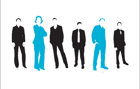 organigrama si project management schita cu oameni echipa birou cu sase oameni