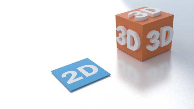Proiectare 2d sau 3d text 2d scris pe o platforma orizontala si textul 3d scris pe un cub