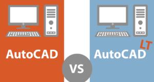 autocad vs autocad LT - infografic