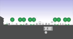 categorii de strazi infografic profil de drum sectiune prin strada de categoria I cu sase benzi