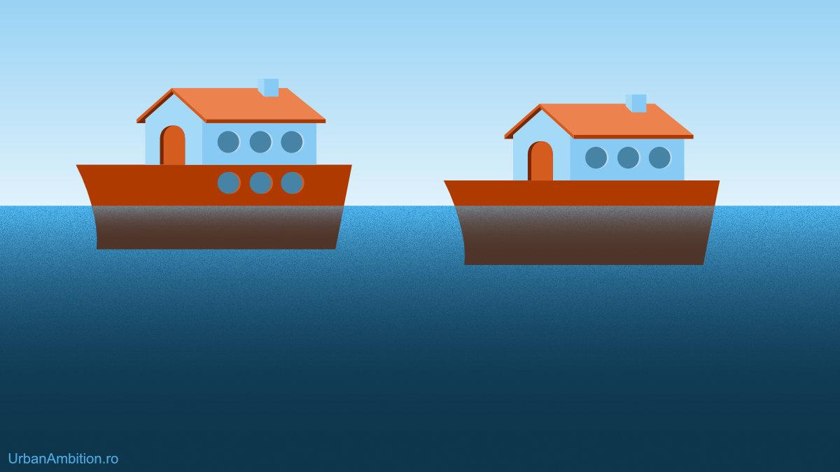diferenta intre demisol si subsol doua case pe barca plutitoare