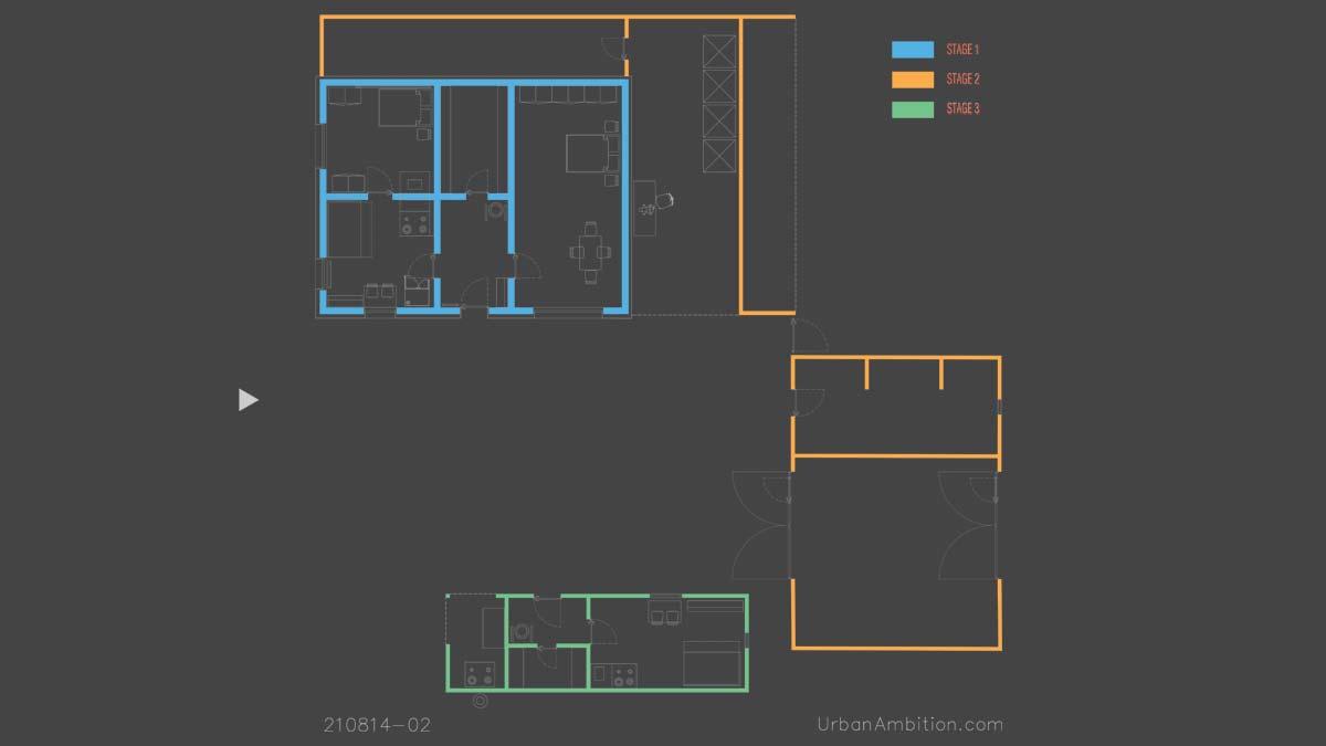modele de case mici cu anexe clasic minimalist